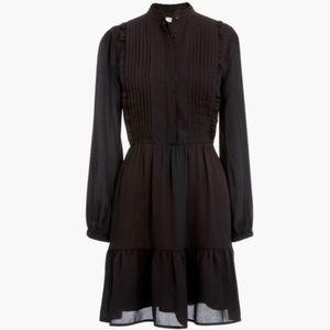 J Crew Mercantile Black Ruffle Dress 10 New Party